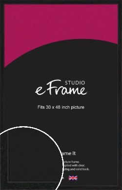 Straight Edged Box Black Picture Frame, 30x48