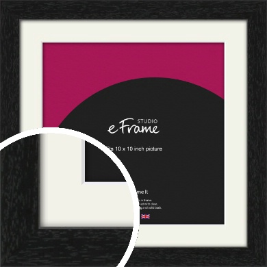 Straight Edged Box Black Picture Frame & Mount, 10x10