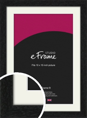 Straight Edged Box Black Picture Frame & Mount, 10x15
