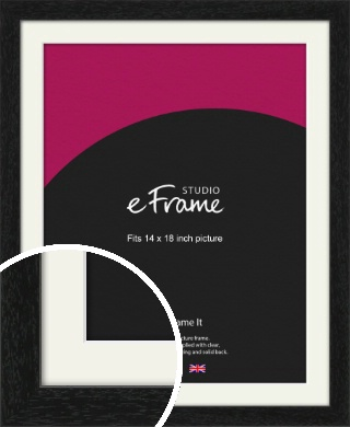Straight Edged Box Black Picture Frame & Mount, 14x18