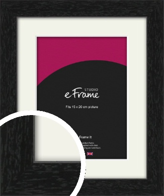 Straight Edged Box Black Picture Frame & Mount, 15x20cm (6x8