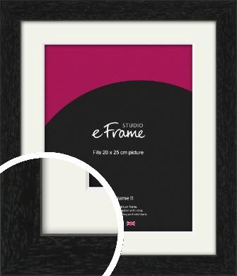 Straight Edged Box Black Picture Frame & Mount, 20x25cm (8x10