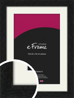 Straight Edged Box Black Picture Frame & Mount, 20x30cm (8x12