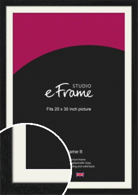 Straight Edged Box Black Picture Frame & Mount, 20x30