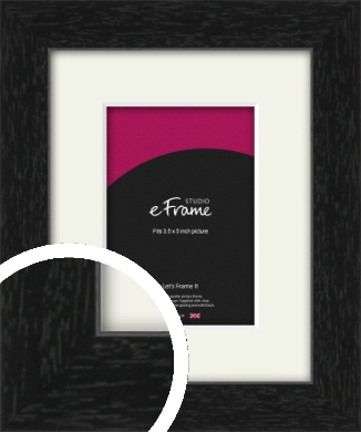 Straight Edged Box Black Picture Frame & Mount, 3.5x5