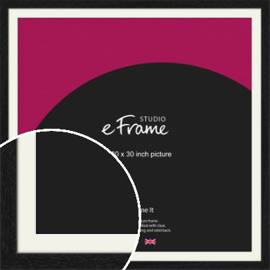 Straight Edged Box Black Picture Frame & Mount, 30x30