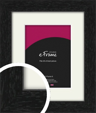 Straight Edged Box Black Picture Frame & Mount, 4.5x6