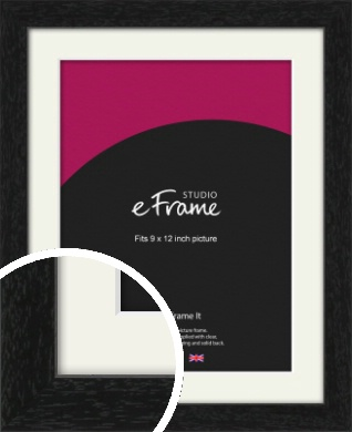 Straight Edged Box Black Picture Frame & Mount, 9x12