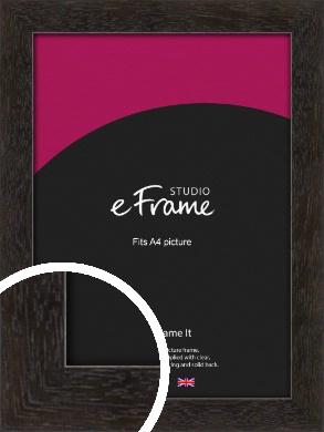 Espresso Gallery Brown Picture Frame, A4 (210x297mm) (VRMP-1244-A4)