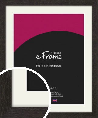Gallery Brown Picture Frame & Mount, 11x14