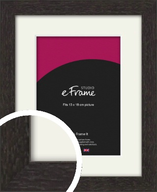 Gallery Brown Picture Frame & Mount, 13x18cm (5x7