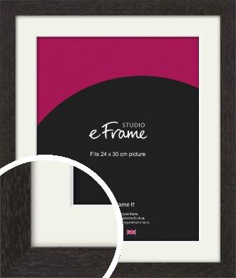 Gallery Brown Picture Frame & Mount, 24x30cm (VRMP-1247-M-24x30cm)
