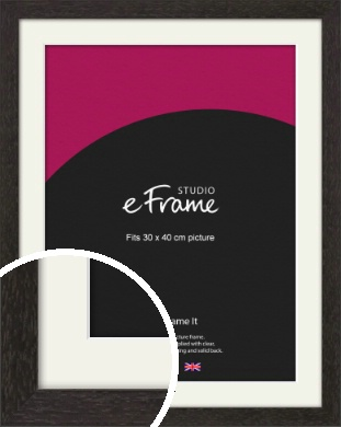 Gallery Brown Picture Frame & Mount, 30x40cm (VRMP-1247-M-30x40cm)