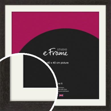 Gallery Brown Picture Frame & Mount, 40x40cm (VRMP-1247-M-40x40cm)