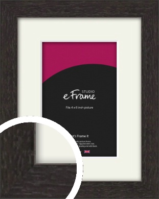 Gallery Brown Picture Frame & Mount, 4x6