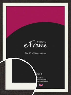 Gallery Brown Picture Frame & Mount, 50x70cm (VRMP-1247-M-50x70cm)