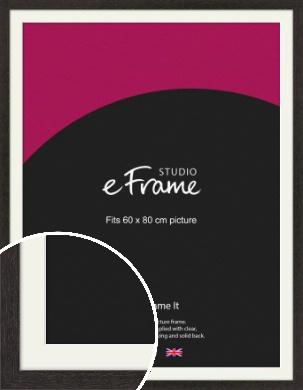 Gallery Brown Picture Frame & Mount, 60x80cm (VRMP-1247-M-60x80cm)