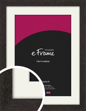 Gallery Brown Picture Frame & Mount, A4 (210x297mm) (VRMP-1247-M-A4)