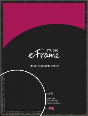 Timeworn Black Picture Frame, 36x48