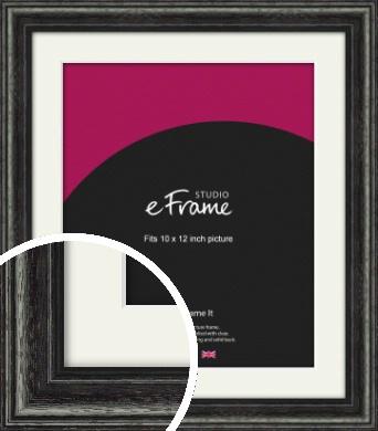 Timeworn Black Picture Frame & Mount, 10x12