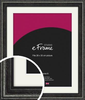 Timeworn Black Picture Frame & Mount, 28x35cm (VRMP-359-M-28x35cm)