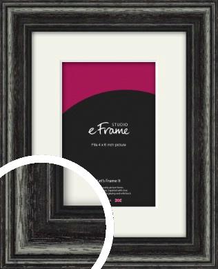 Timeworn Black Picture Frame & Mount, 4x6