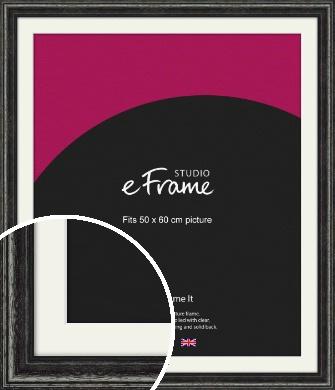 Timeworn Black Picture Frame & Mount, 50x60cm (VRMP-359-M-50x60cm)