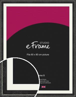 Timeworn Black Picture Frame & Mount, 60x80cm (VRMP-359-M-60x80cm)