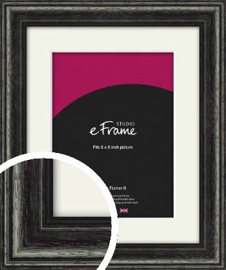 Timeworn Black Picture Frame & Mount, 6x8