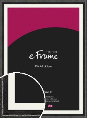 Timeworn Black Picture Frame & Mount, A1 (594x841mm) (VRMP-359-M-A1)