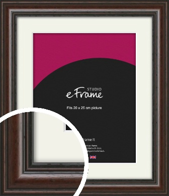 Dark Brown Picture Frame & Mount, 20x25cm (8x10