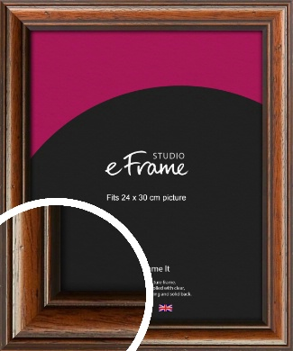 Antique Brown Picture Frame, 24x30cm (VRMP-672-24x30cm)