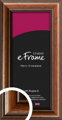 Antique Brown Picture Frame, 4x10