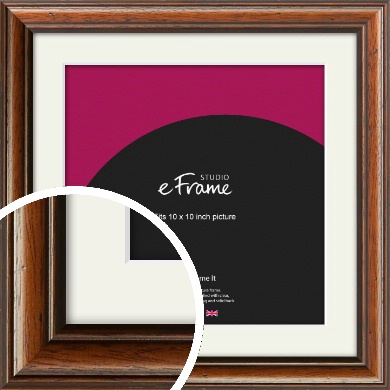 Antique Brown Picture Frame & Mount, 10x10