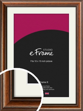 Antique Brown Picture Frame & Mount, 10x15