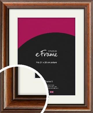 Antique Brown Picture Frame & Mount, 21x28cm (VRMP-672-M-21x28cm)