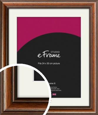Antique Brown Picture Frame & Mount, 24x30cm (VRMP-672-M-24x30cm)