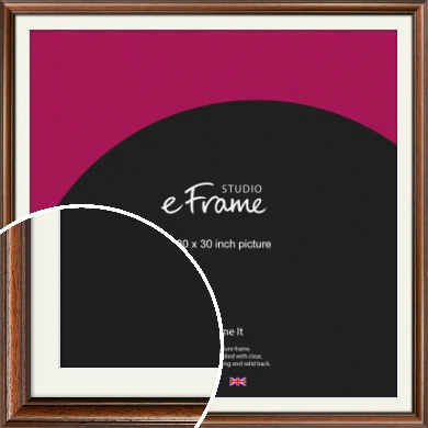Antique Brown Picture Frame & Mount, 30x30
