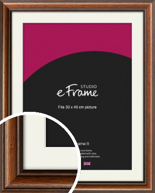 Antique Brown Picture Frame & Mount, 30x40cm (VRMP-672-M-30x40cm)