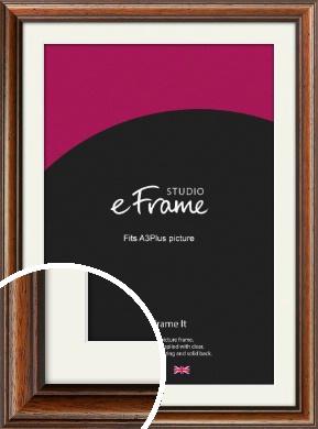 Antique Brown Picture Frame & Mount, A3Plus (VRMP-672-M-329x483mm)
