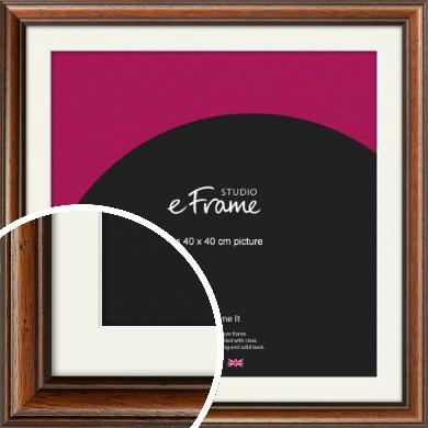 Antique Brown Picture Frame & Mount, 40x40cm (VRMP-672-M-40x40cm)