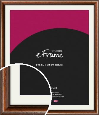 Antique Brown Picture Frame & Mount, 50x60cm (VRMP-672-M-50x60cm)