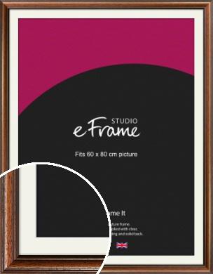 Antique Brown Picture Frame & Mount, 60x80cm (VRMP-672-M-60x80cm)