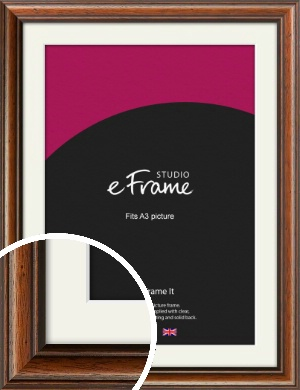 Antique Brown Picture Frame & Mount, A3 (297x420mm) (VRMP-672-M-A3)
