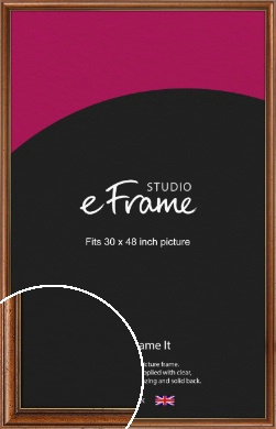 Vintage Classic Brown Picture Frame, 30x48