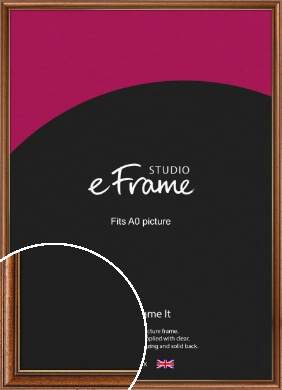 Vintage Classic Brown Picture Frame, A0 (841x1189mm) (VRMP-409-A0)