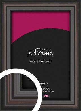 Elegant Vintage Black Picture Frame, 10x15cm (4x6
