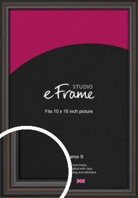 Elegant Vintage Black Picture Frame, 10x15