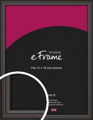Elegant Vintage Black Picture Frame, 12x16