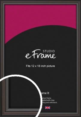 Elegant Vintage Black Picture Frame, 12x18